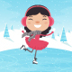 Girl Ice Skating - GraphicRiver Item for Sale