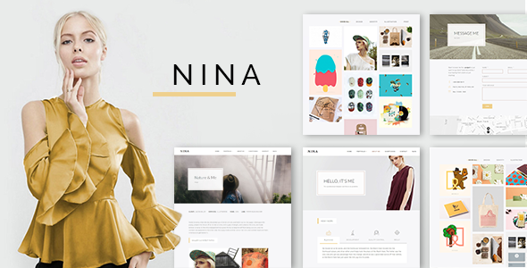 Nina – A Minimal and Creative Portfolio WordPress Theme