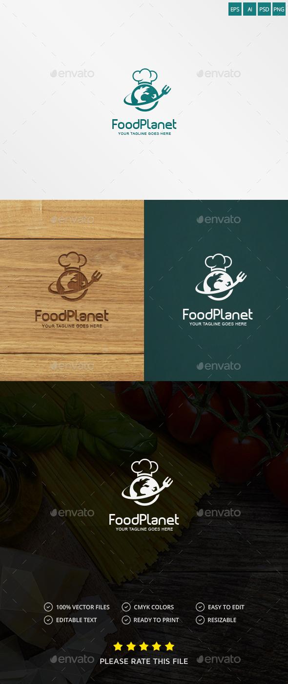 Food Planet Logo - Food Logo Templates