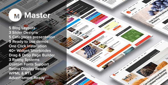 Master | Premium Blog and Magazine WordPress Theme - Blog / Magazine WordPress