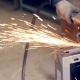 Worker Using Industrial Grinder - VideoHive Item for Sale