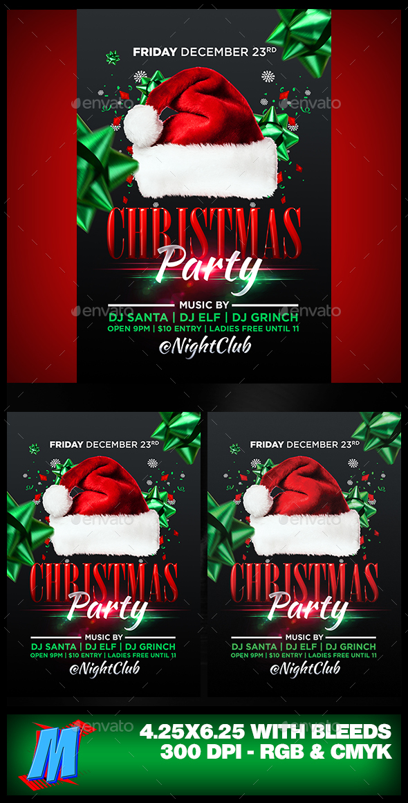 Christmas Party Flyer Template - Clubs & Parties Events
