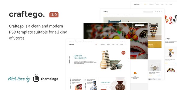 Craftego - Multiconcept Store | PSD Template