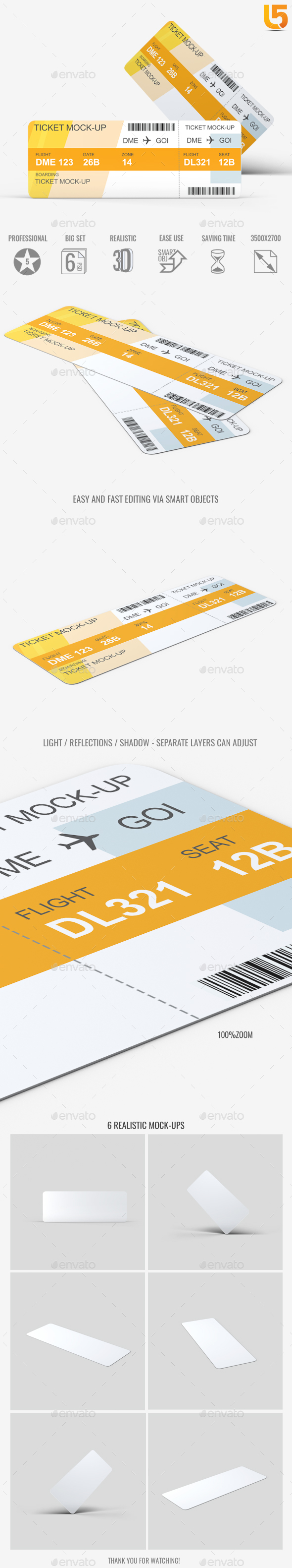 Ticket Mock-Up - Miscellaneous Print