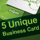 5 Unique Business Cards - GraphicRiver Item for Sale