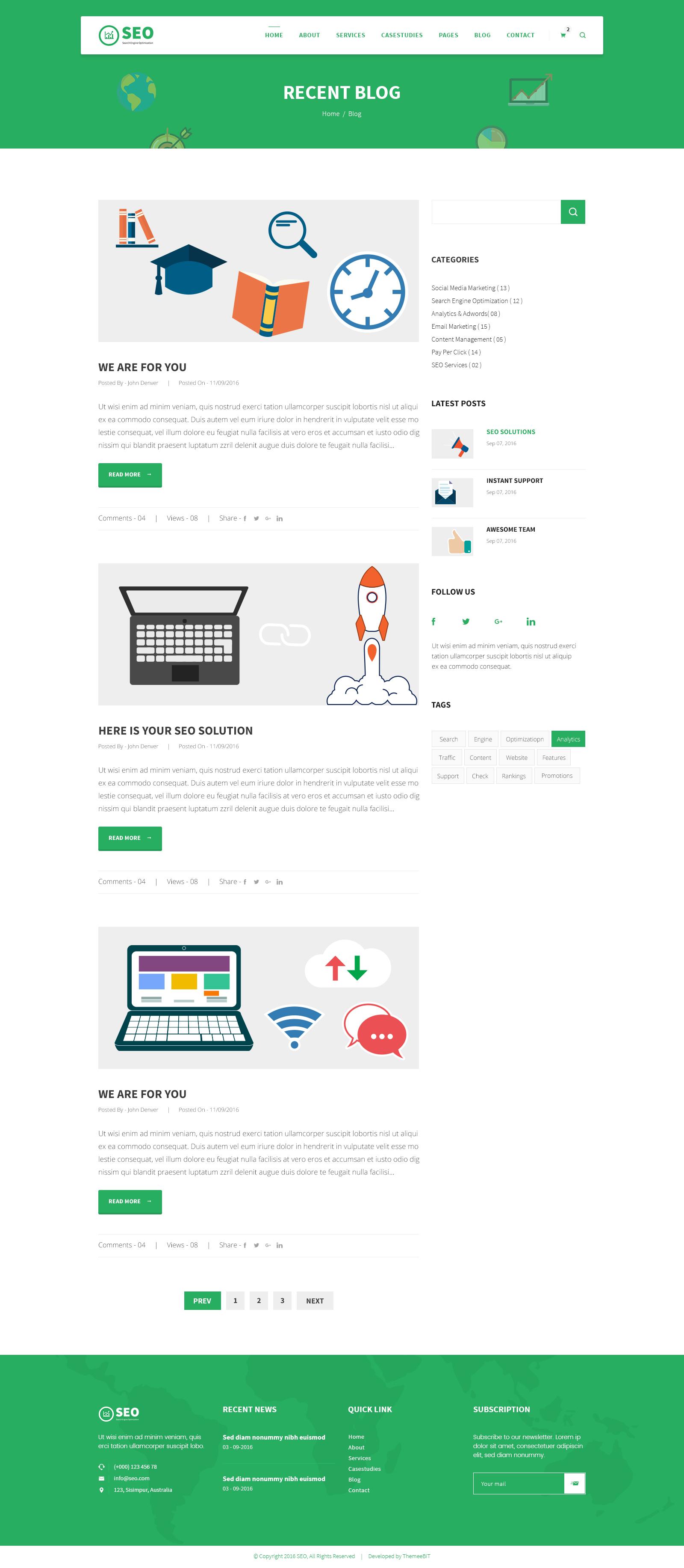 SEO PRO - Search Engine Optimization & Marketing PSD Template by ...