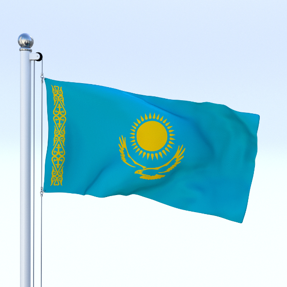 Animated Kazakhstan Flag - 3DOcean Item for Sale