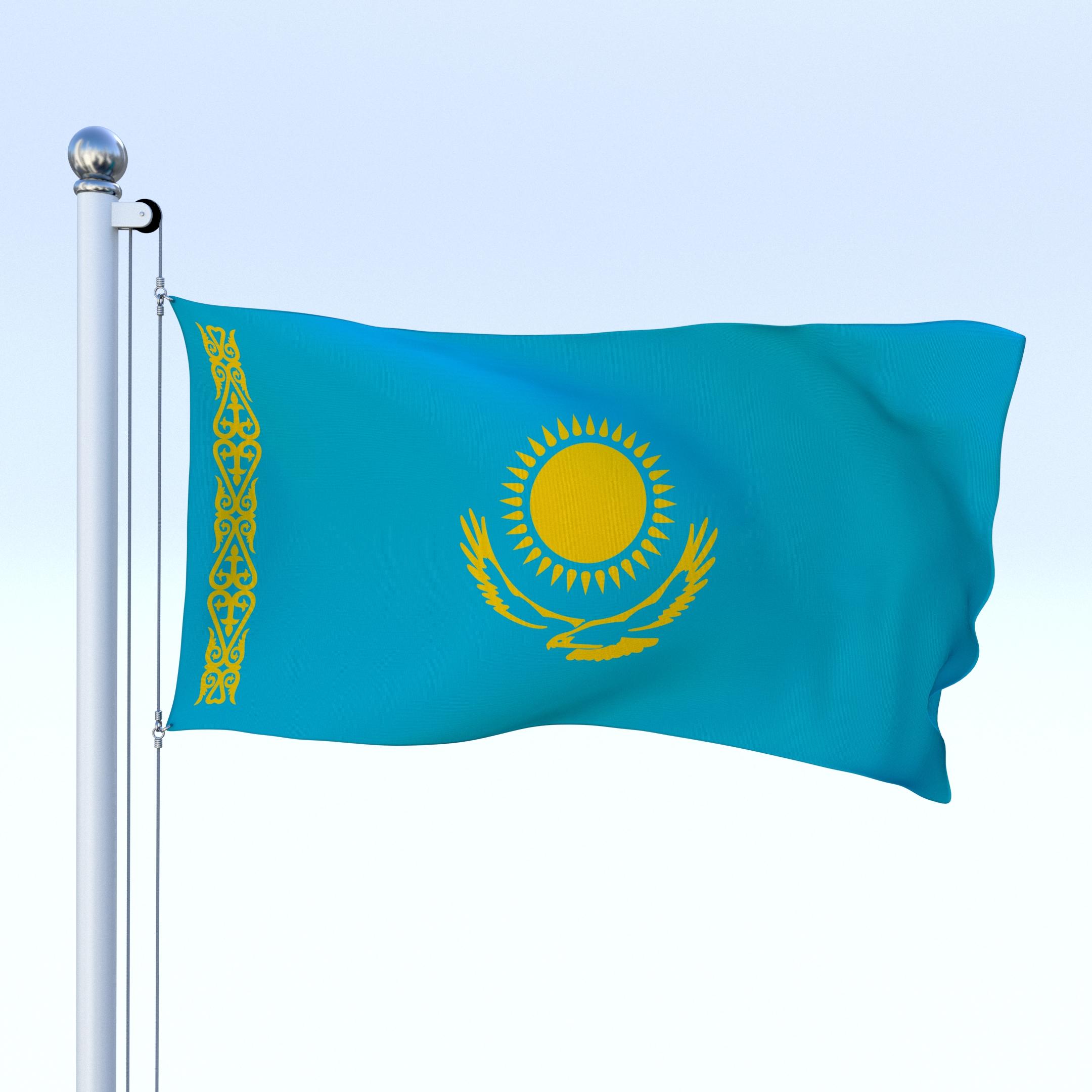 Kazakhstan Flag waving animated using MIR plug in after ... |Kazakhstan Animation