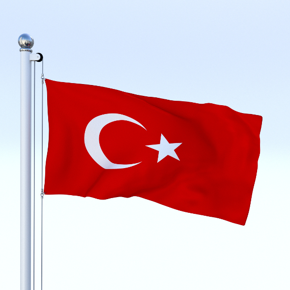 Animated Turkey Flag - 3DOcean Item for Sale