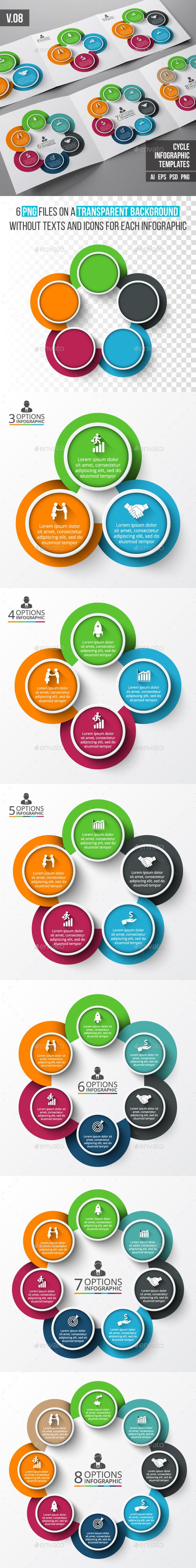 Infographics template set v.08 - Infographics