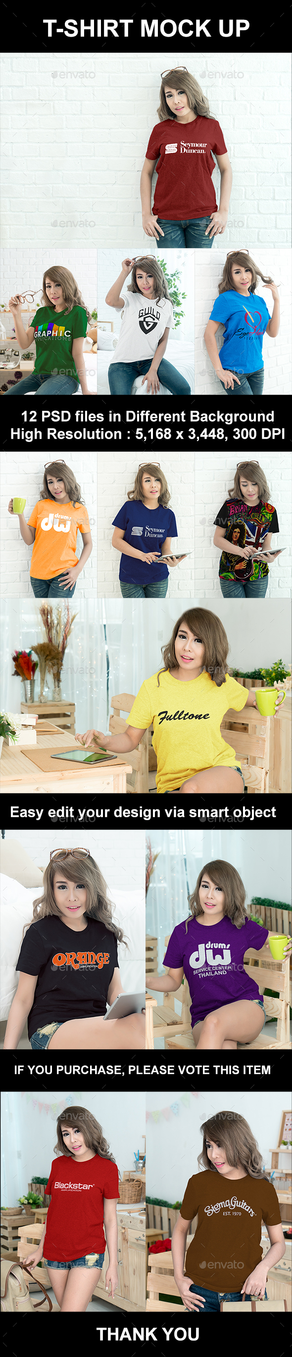 Woman T-Shirt Mock-Up - T-shirts Apparel