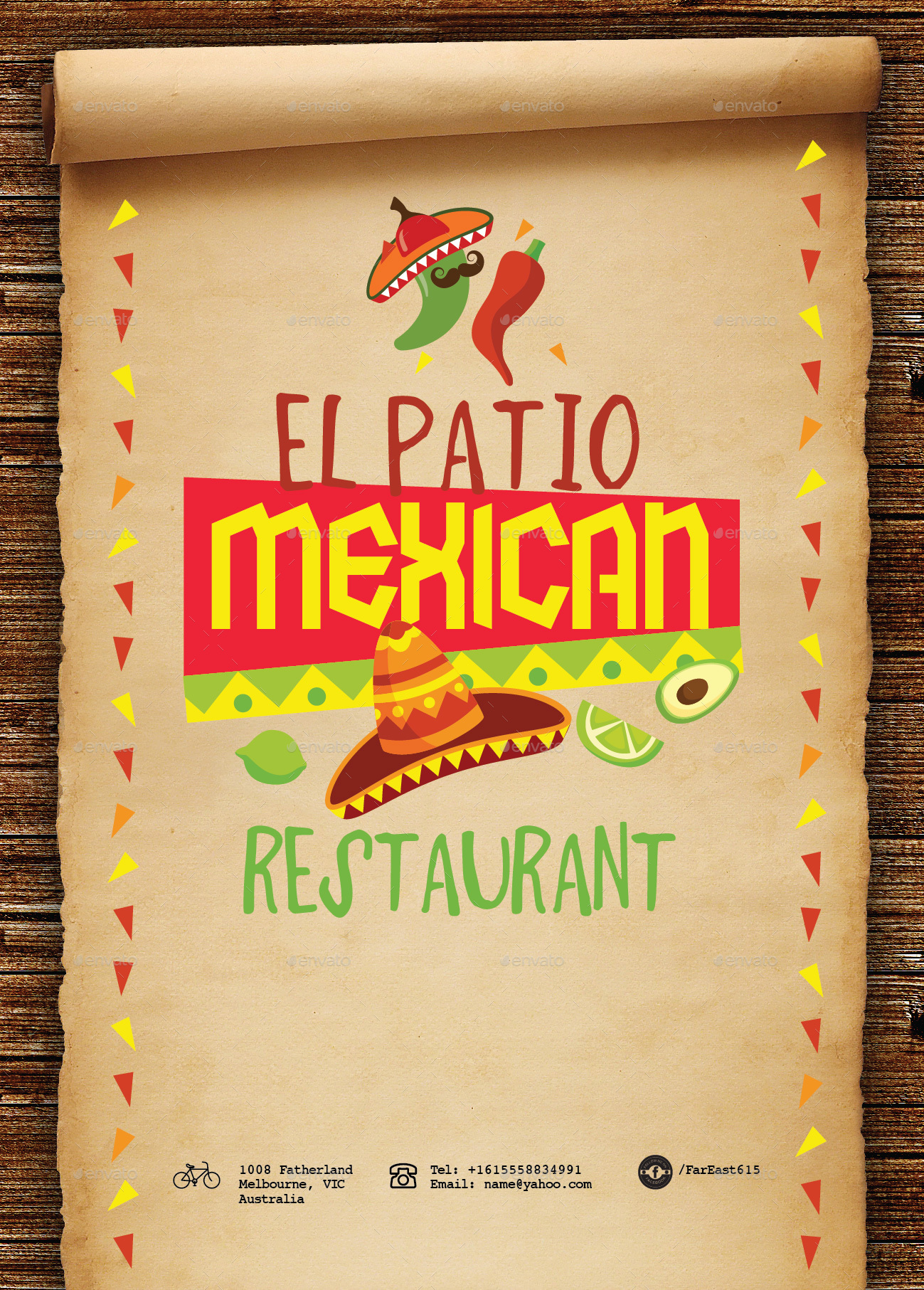 mexican food menu template by tunagaga | graphicriver