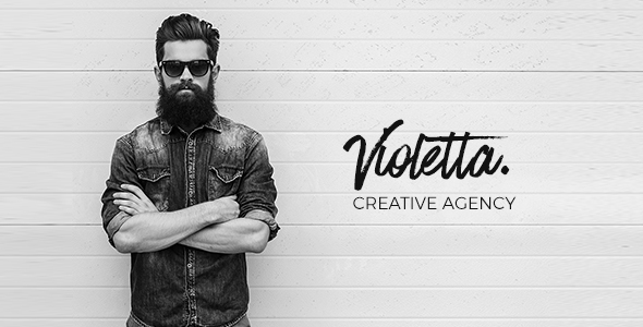 Violetta | Creative Agency Minimal Responsive WordPress Theme