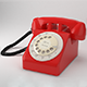 Low Poly Vintage 50s  Phone - 3DOcean Item for Sale
