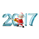 3D Illustration of Santa Claus Figures Cuts Nulled