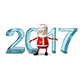 3D Illustration of Santa and the Ice Figures Nulled
