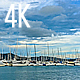 Sunset with Views of the Sea Bay with Yachts - VideoHive Item for Sale