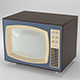 Low Poly Vintage 50s TV - 3DOcean Item for Sale