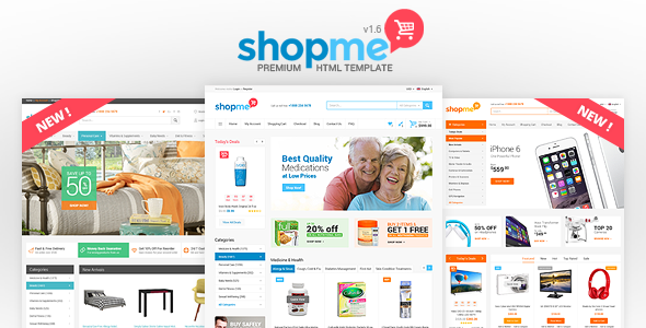 ShopMe - Ecommerce Multipurpose HTML Template