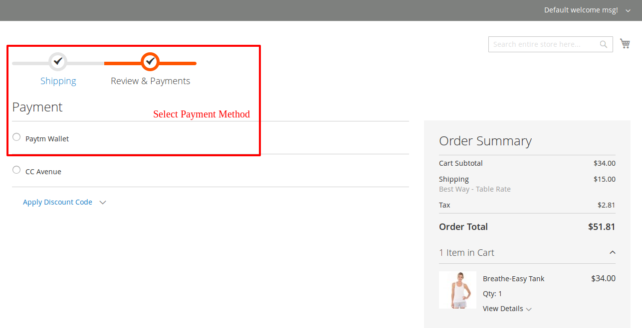 Paytm wallet magento 2 extension
