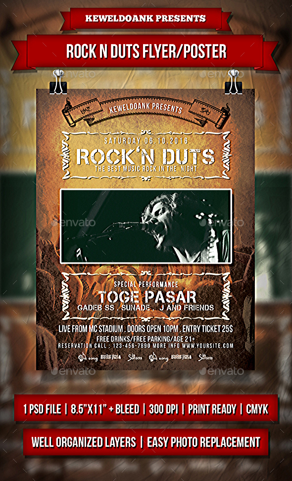 Rock N Duts Flayer / Poster - Events Flyers