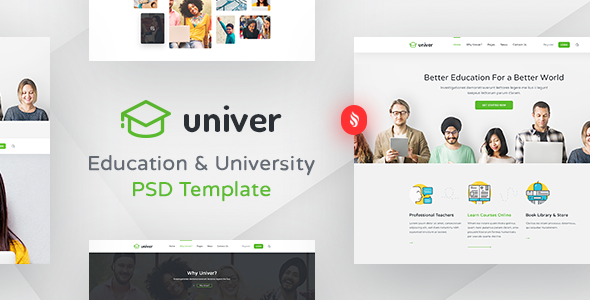 Univer - Multipurpose Education & University PSD Template - Corporate PSD Templates