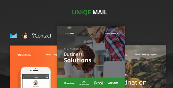 Image of Uniqe Mail - Responsive Email set + Online Access