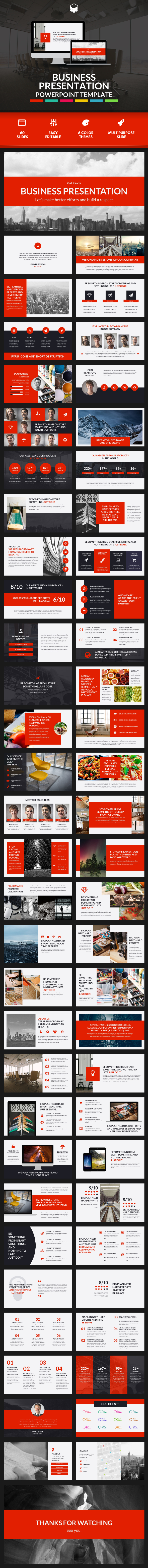 Business Presentation 2 - PowerPoint Template - Business PowerPoint Templates