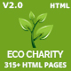 ecoCharity - Nonprofit Environment HTML5 Template - ThemeForest Item for Sale