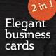 Elegant Business Cards - GraphicRiver Item for Sale