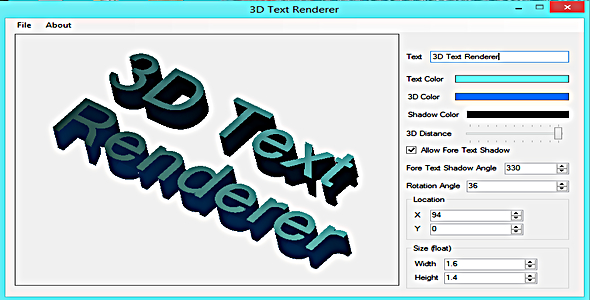 3D Text Renderer - CodeCanyon Item for Sale