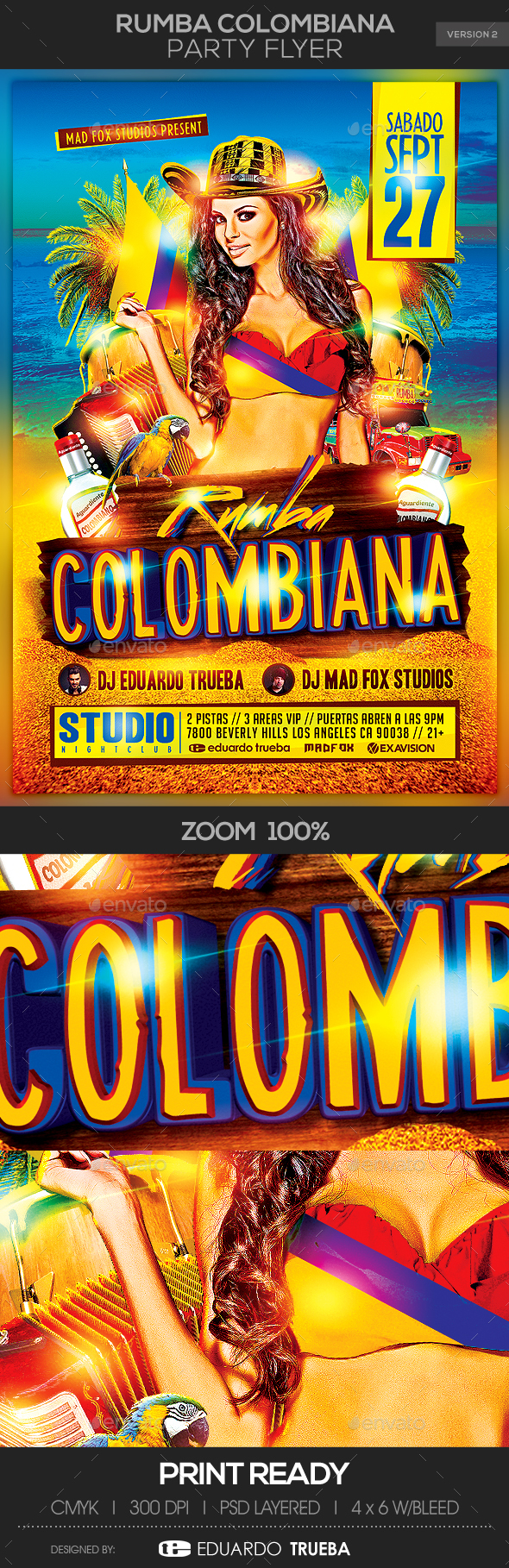 Rumba Colombiana Party Flyer - Events Flyers