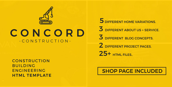 Concord – Construction and Building Website Template