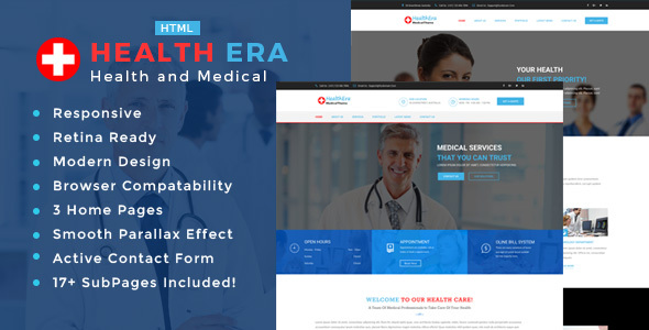Health Era – Health And Medical HTML Template