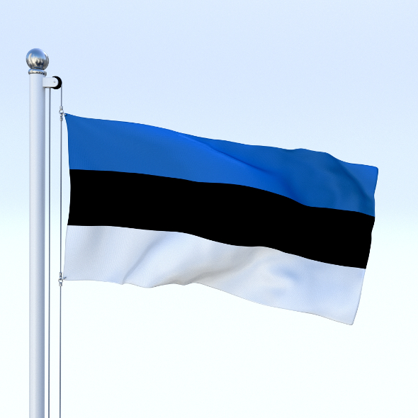 Animated Estonia Flag - 3DOcean Item for Sale