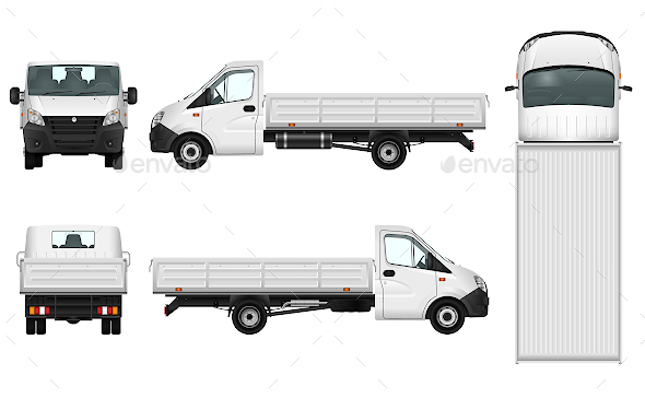 Pickup Truck Template - Man-made Objects Objects
