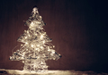 Christmas tree shape made of lights. - PhotoDune Item for Sale