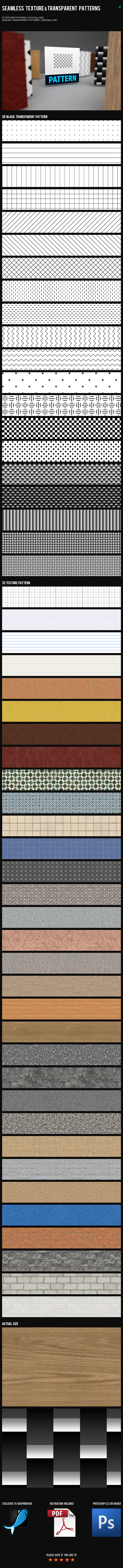Seamless Texture & Transparent Patterns - Textures / Fills / Patterns Photoshop