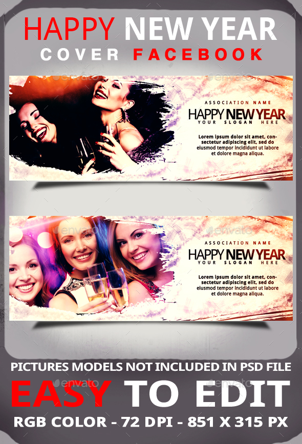 HAPPY NEW YEAR - Cover Facebook - Facebook Timeline Covers Social Media