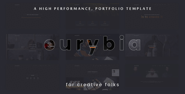 Eurybia - Creative Portfolio HTML Template