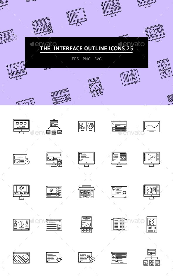 The Interface Outline Icons 25 - Web Icons