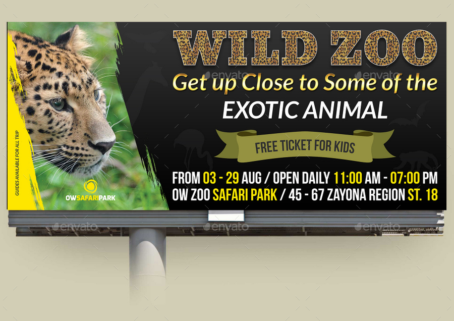 Zoo Flyer Template Divingexperience