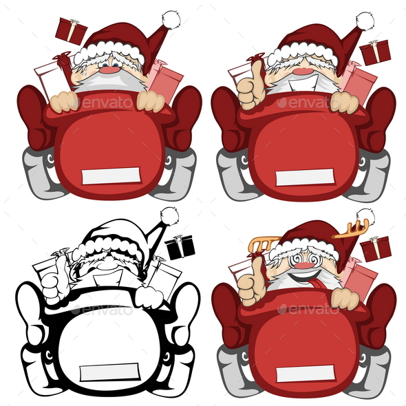 Santa Claus in Action - Christmas Seasons/Holidays