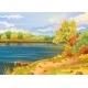 Autumn Landscape Outdoors River Shore - GraphicRiver Item for Sale