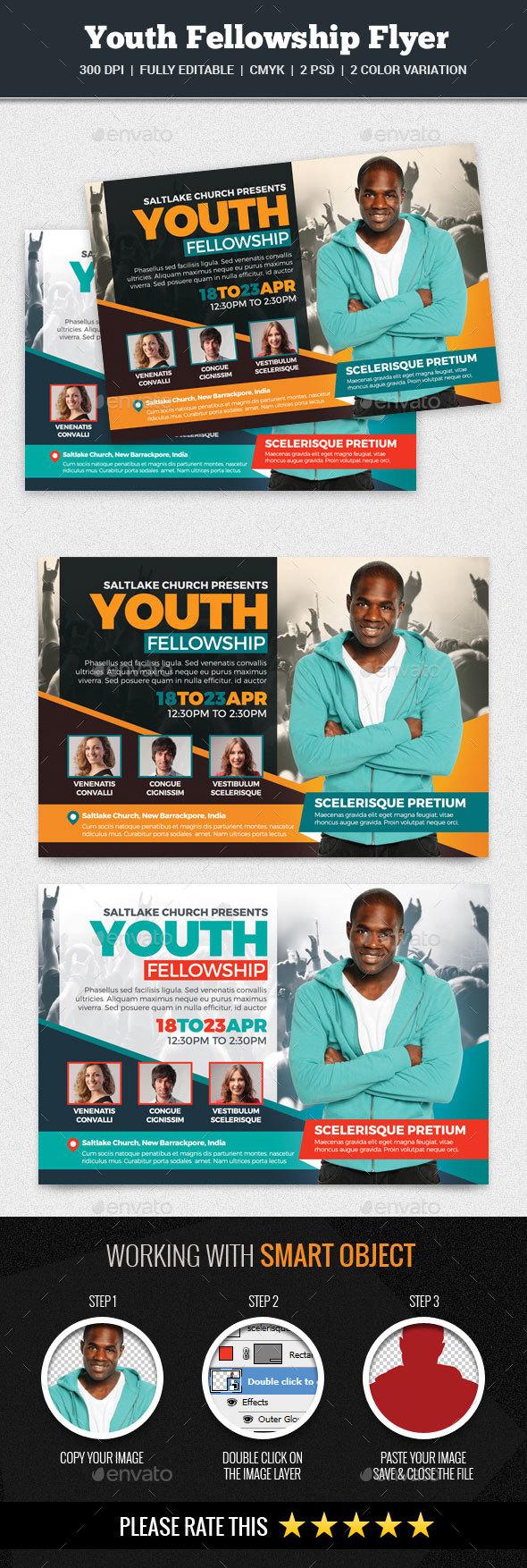 Youth Fellowship Flyer - Church Flyers