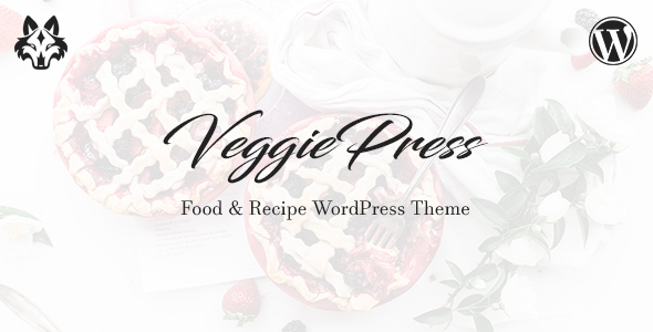 VeggiePress – Food & Recipe WordPress Theme with AJAX Navigation and Rating System