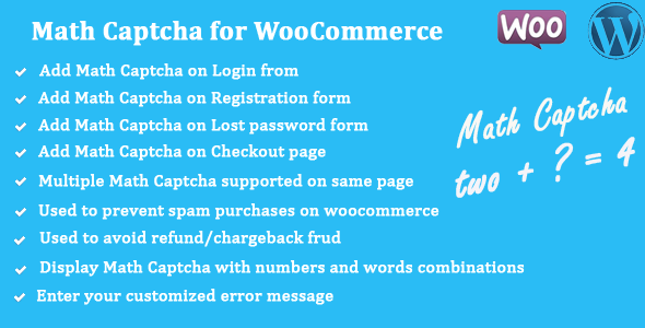 Math Captcha for WooCommerce - CodeCanyon Item for Sale