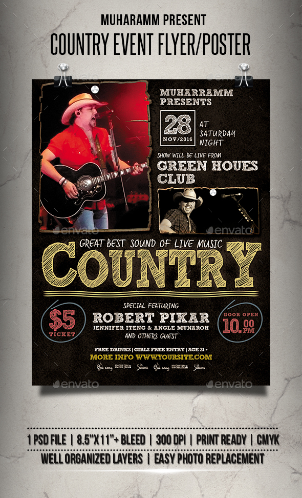 Country Event Flyer / Poster - Events Flyers