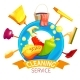 Cleaning Logo Business Composition - GraphicRiver Item for Sale