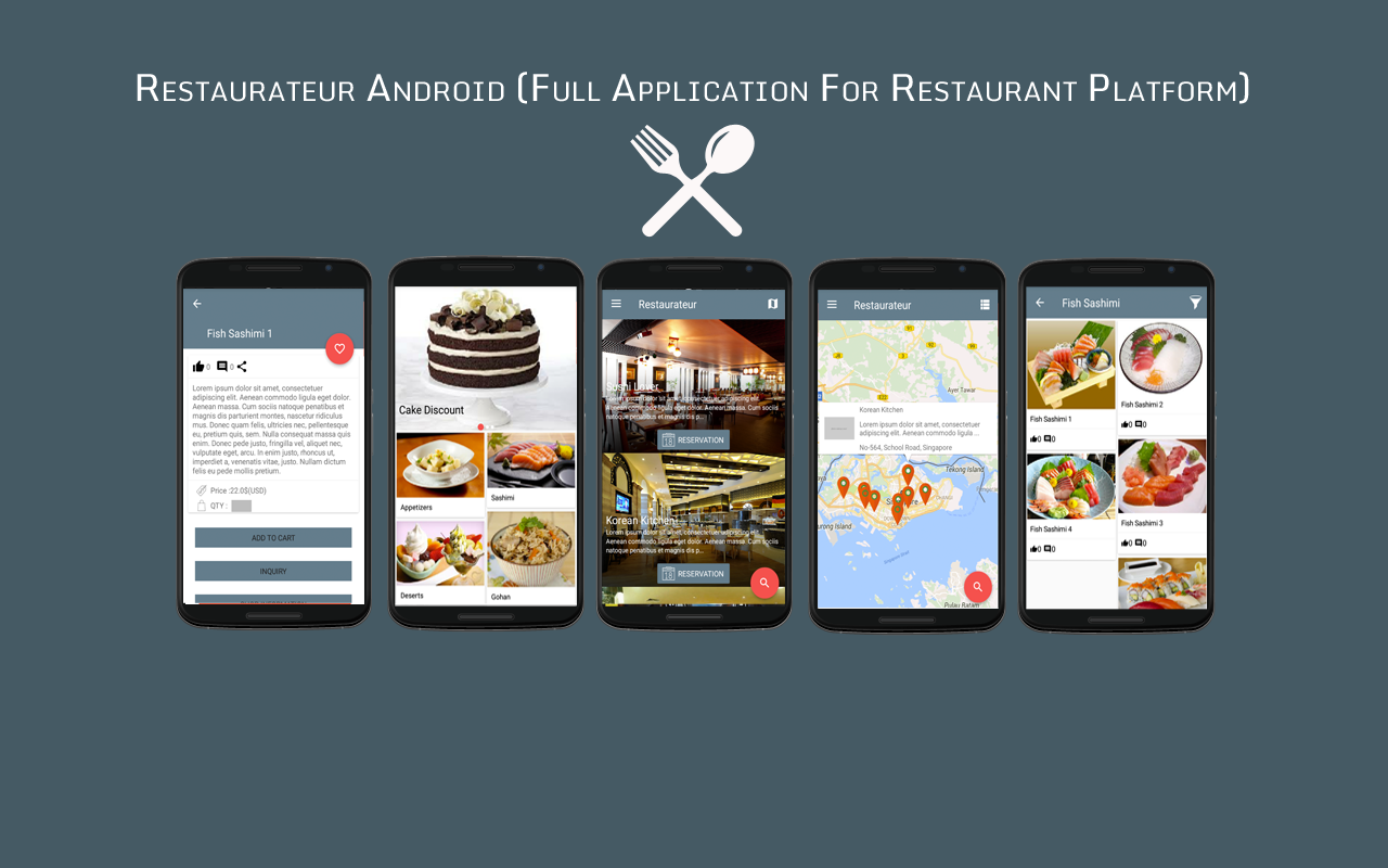 Restaurateur android full application for restaurant